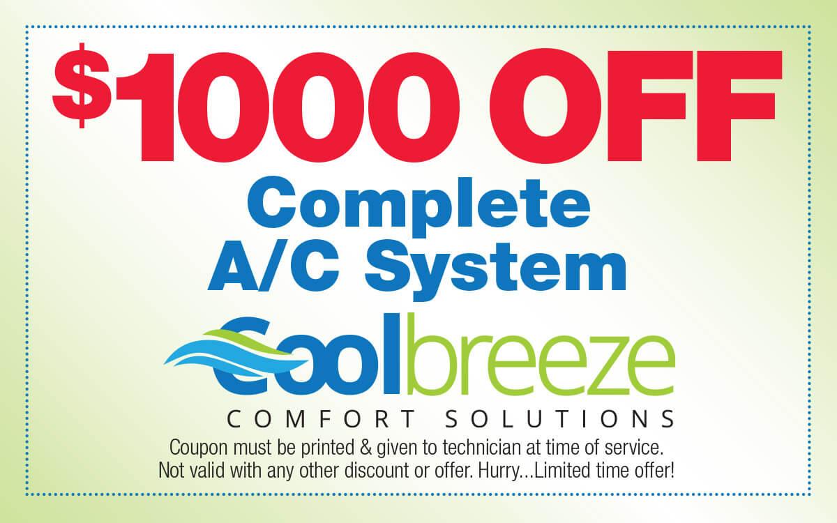 Promotions Cool Breeze Comfort Solutions